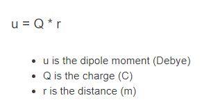 dipole moment formula
