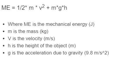 mechanical energy formula