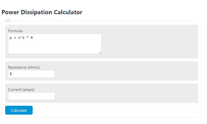 power dissipation calculator
