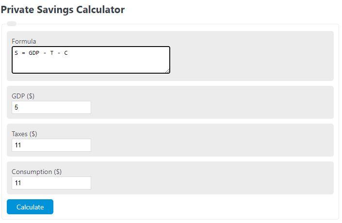private savings calculator