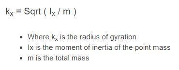 radius of gyration formula