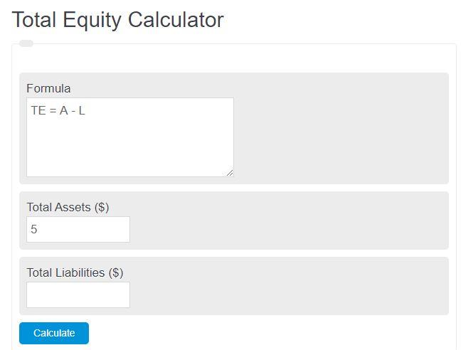 total equity calculator