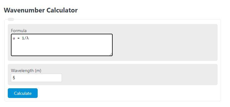 wave number calculator