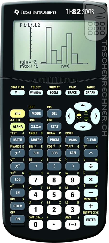 Ti 82 Advanced Mode D Emploi : advanced, emploi, TI-82, STATS, Calculatrices.ch