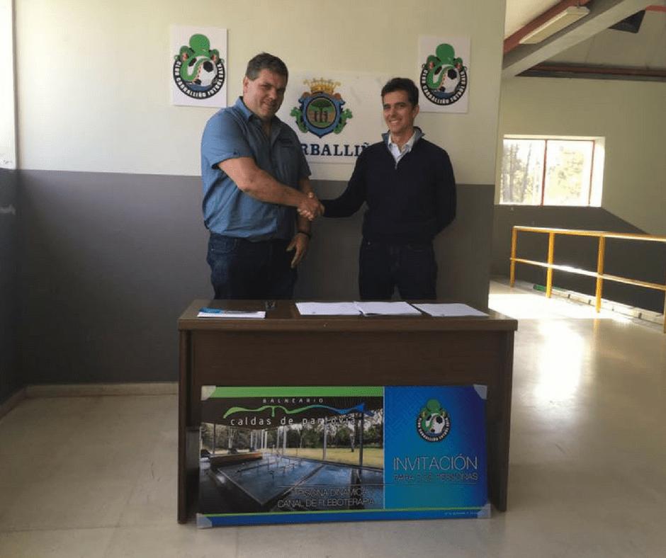 Balneario Caldas de Partovia y Club Fútbol Sala Carballiño firman un convenio de colaboración
