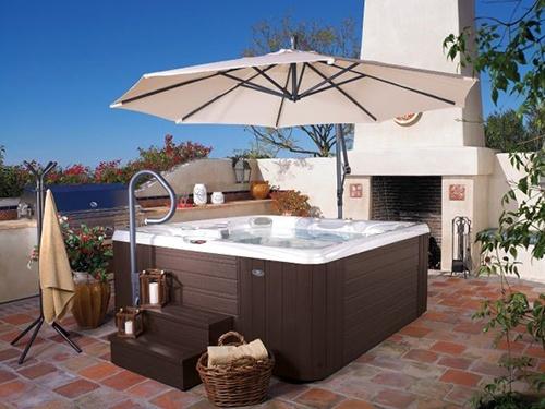 backyard hot tub design