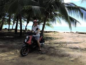 our rented motorbike