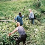 Clearing vegetation at Tipside community space in Todmorden