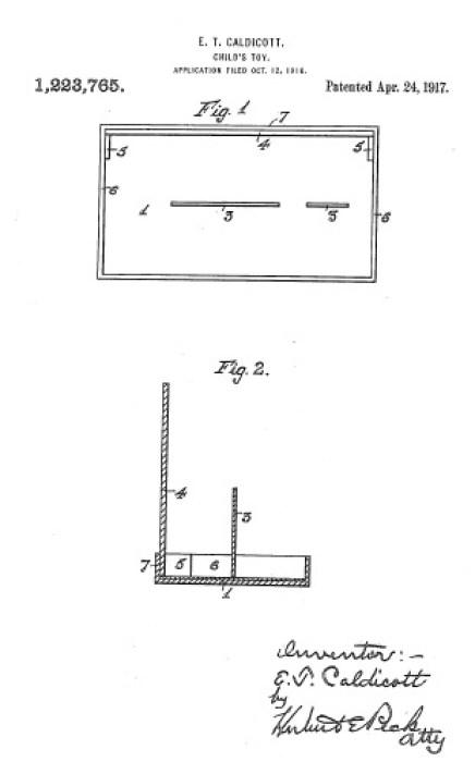 Edwin Tearle Caldicott Patent - Toy Design
