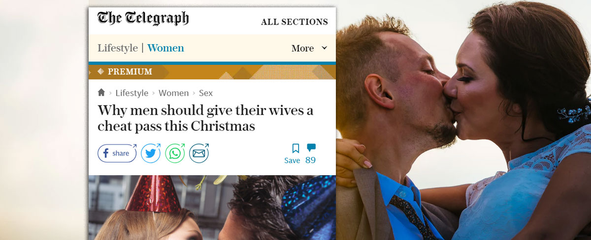 The Telegraph urges men to give their wives permission to commit adultery this Christmas.