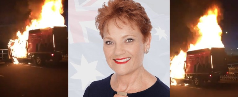 """WATCH: One Nation truck set on fire: """"This is what the Left does to conservative parties"""""""