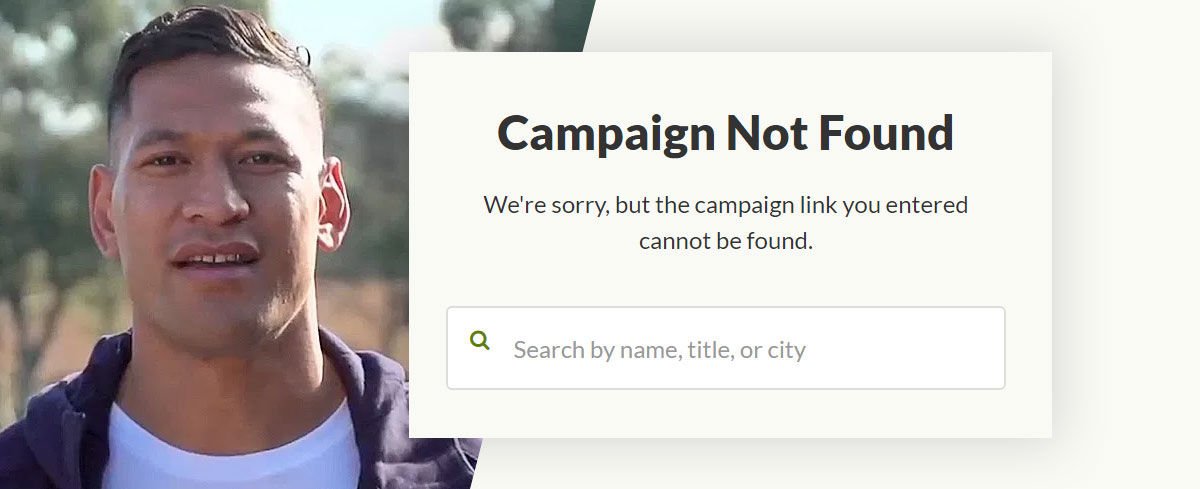 Israel Folau's GoFundMe campaign shut down: 'We don't tolerate exclusion'