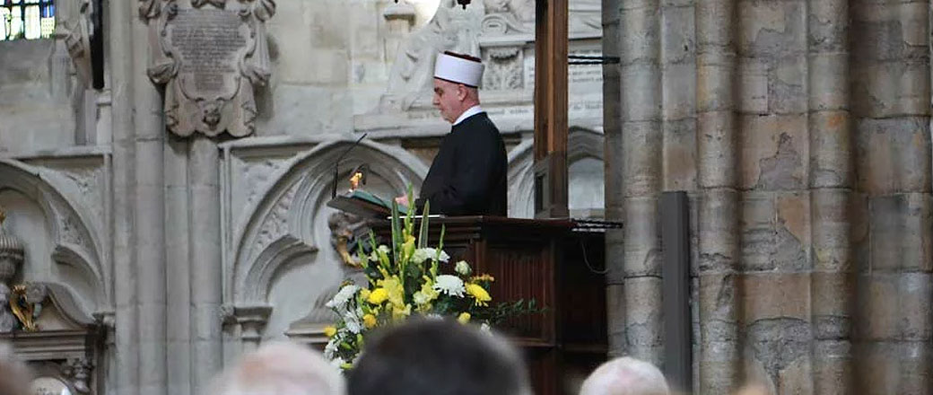 "Mufti reads from Quran at Westminster Abbey: ""Royal Cathedral bows to Islam"""