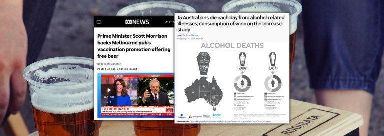 Scott Morrison 'Backs' Free Alcohol Promo For Vaccinated Patrons, Despite Alcohol Causing 15 Deaths Per Day