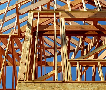 residential framing for a new construction
