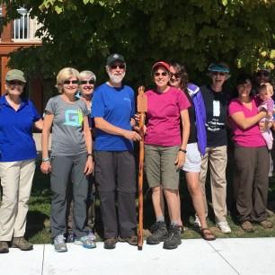 CHBTC receiving the 2016 Lloyd Smith Walking Stick