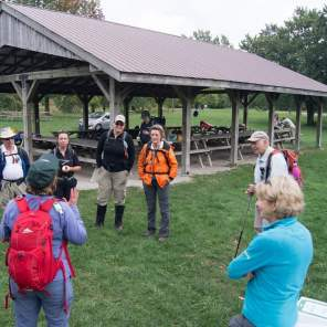 2016 Bruce Trail Day - Listening to a Hike Leader