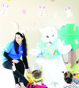 Easter fun at Margaret Dunn Library There was plenty of Easter fun last Saturday at the Margaret Dunn branch of Caledon Public Library.Library staff member Sonia D'Alimonte was joined by the Easter Bunny as she read stories to the young people on hand.
