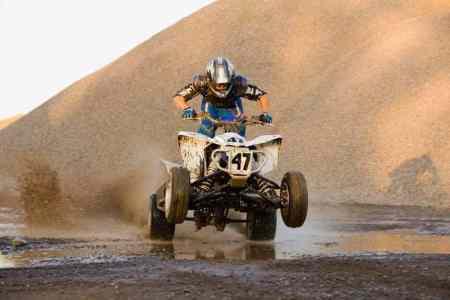 Rider-on-four-wheeler