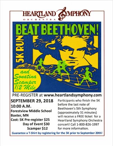 Heartland Symphony Orchestra - Beat Beethoven 5K Run   Brainerd MN