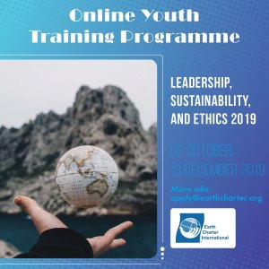 Online Course on Leadership, Sustainability, and Ethics @  |  |  |