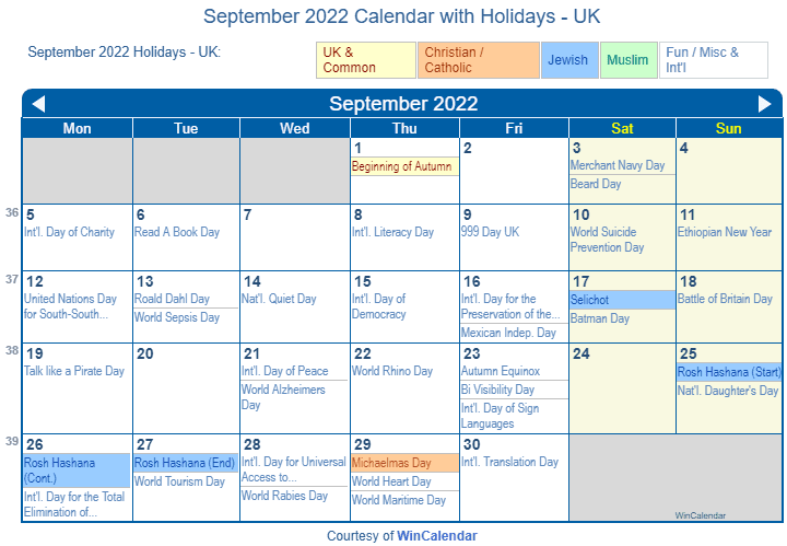 With a few sprigs of greenery, this paper fore. Print Friendly September 2022 Uk Calendar For Printing