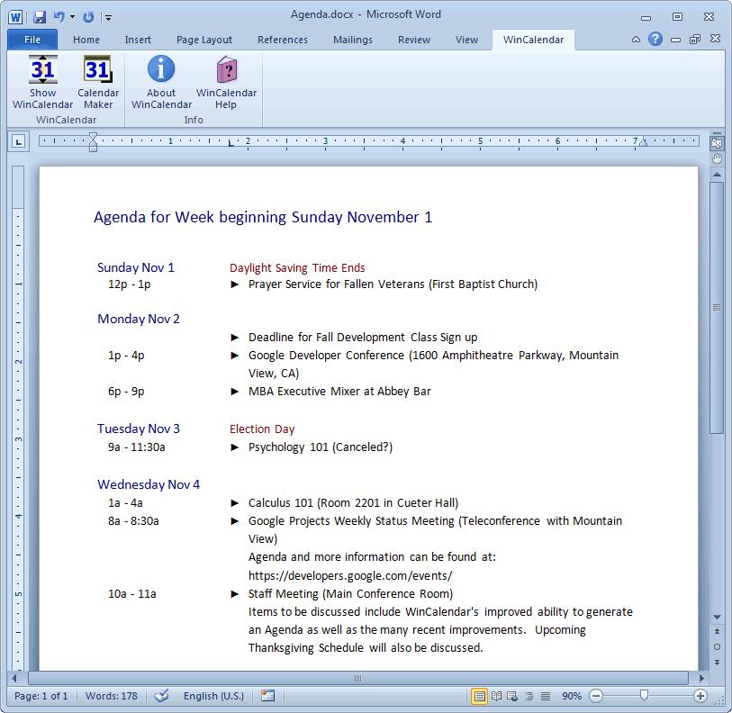 Outlook Calendar Printing Tool | Birthday Calendar Template