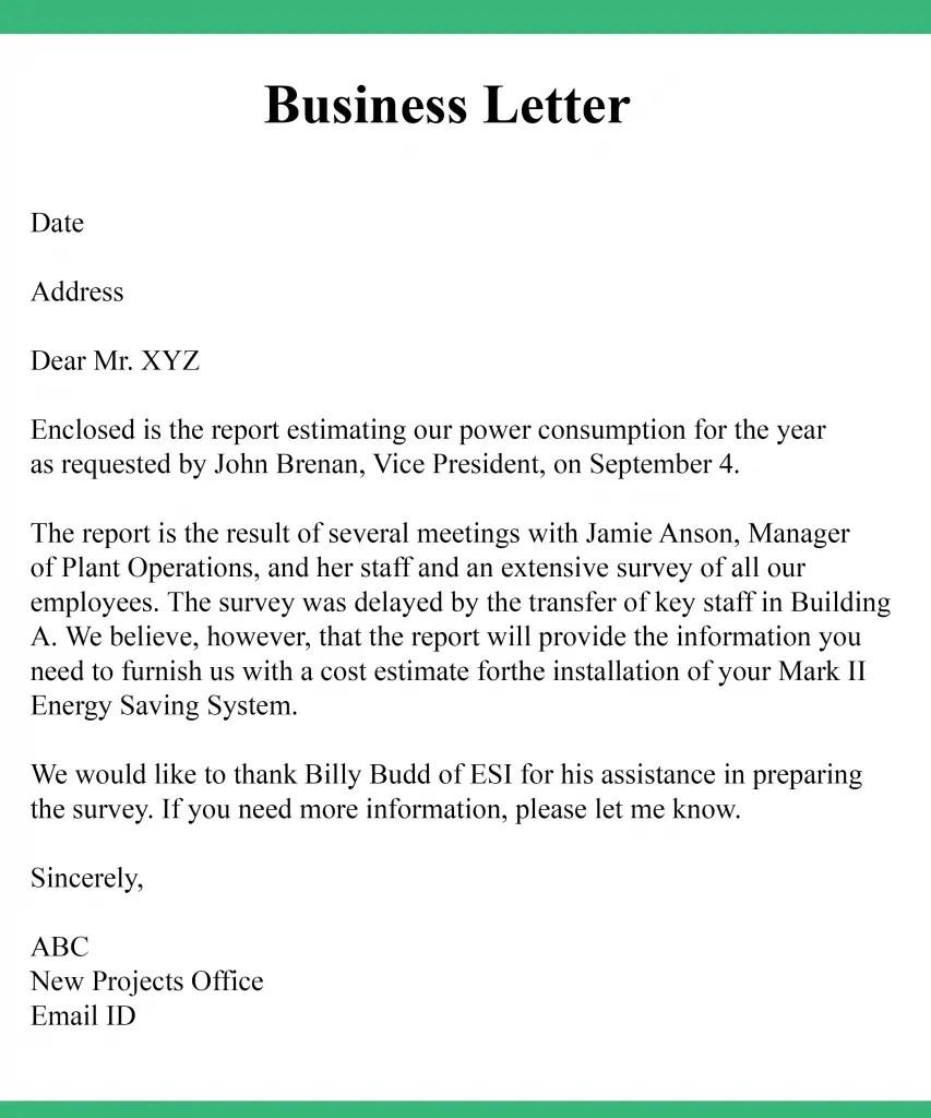 5 Formal Business Letter Format Samples Example Best Printable Calendar