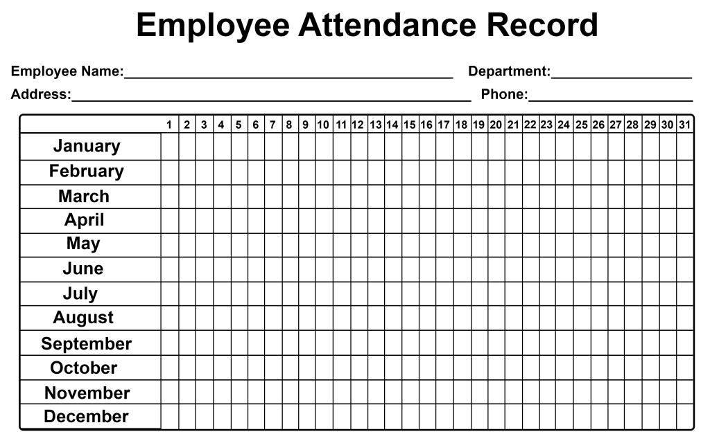 Employee Attendance Tracker Sheet