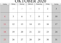 Kalenderblatt oktober 2020 zum ausdrucken
