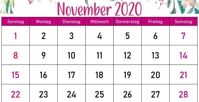 Blumenkalender November 2020 4