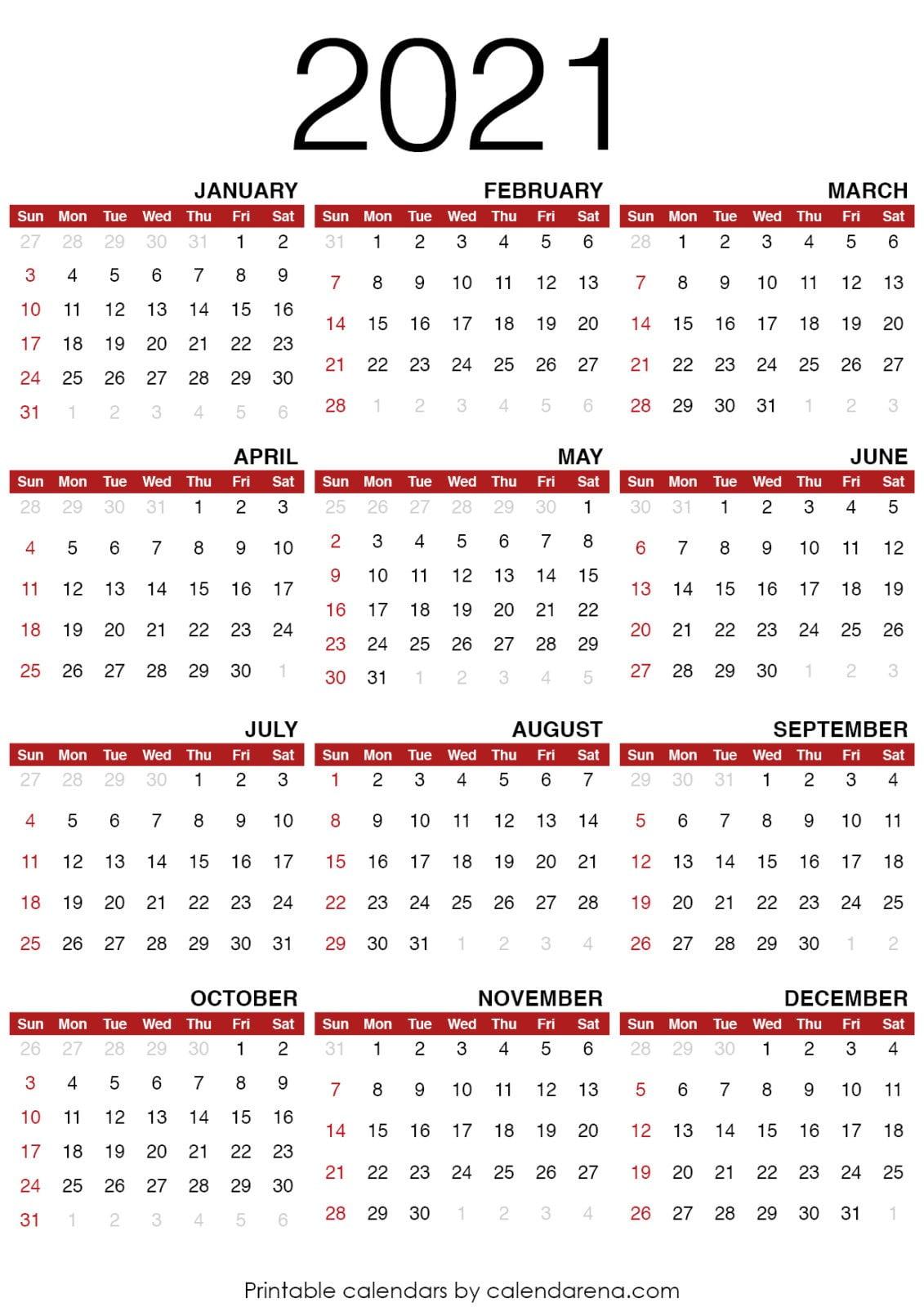 Pdf Kalender 2021