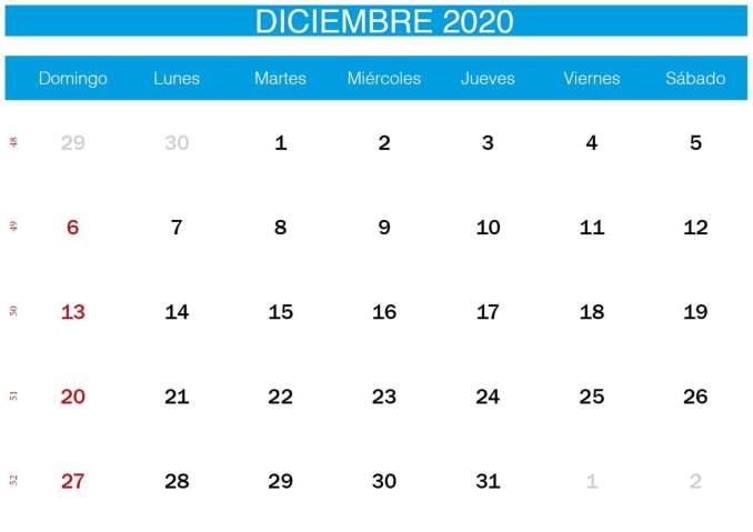 calendario azul de diciembre de 2020-min