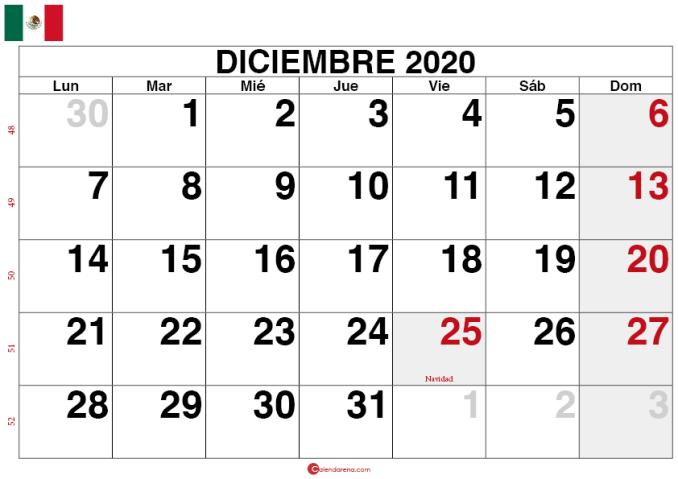 calendario diciembre 2020 mexico_large