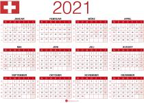 kalender 2021 pdf Schweiz