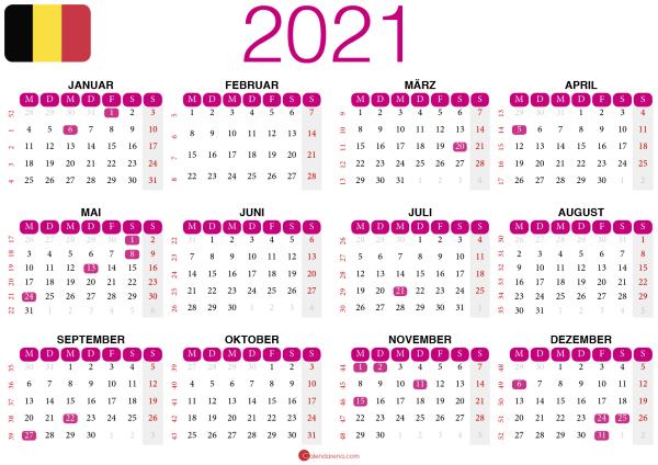 kalender 2021 zum ausdrucken BE