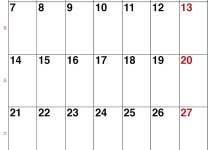 Kalender Dezember 2020 im Hochformat