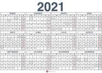 Calendario 2021 Con Semanas Cuantas Semanas Tiene El Año 2020