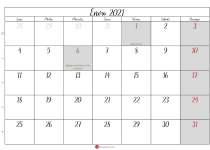 calendario de enero 2021