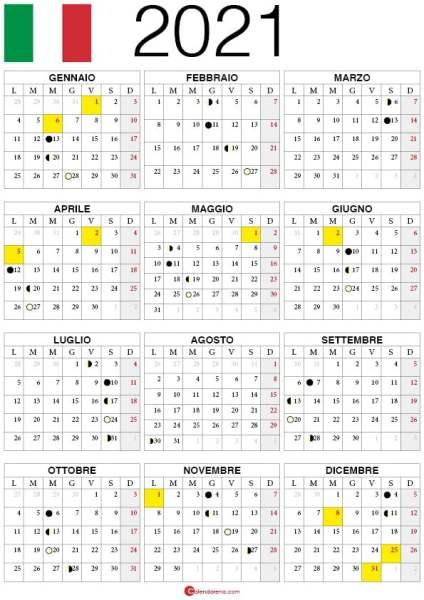calendario lune 2021