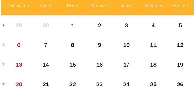calendrier decembre 2020_jaune