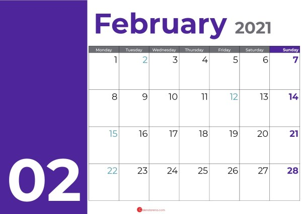 February days purple