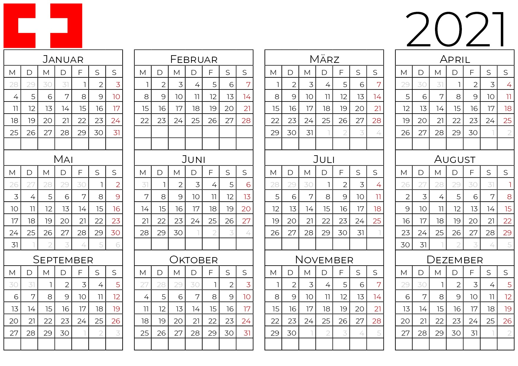 kalender 2021 schweiz_2