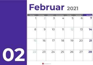 kalender februar 2021_purple