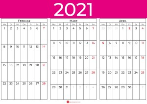 kalender februar märz april 2021_pink