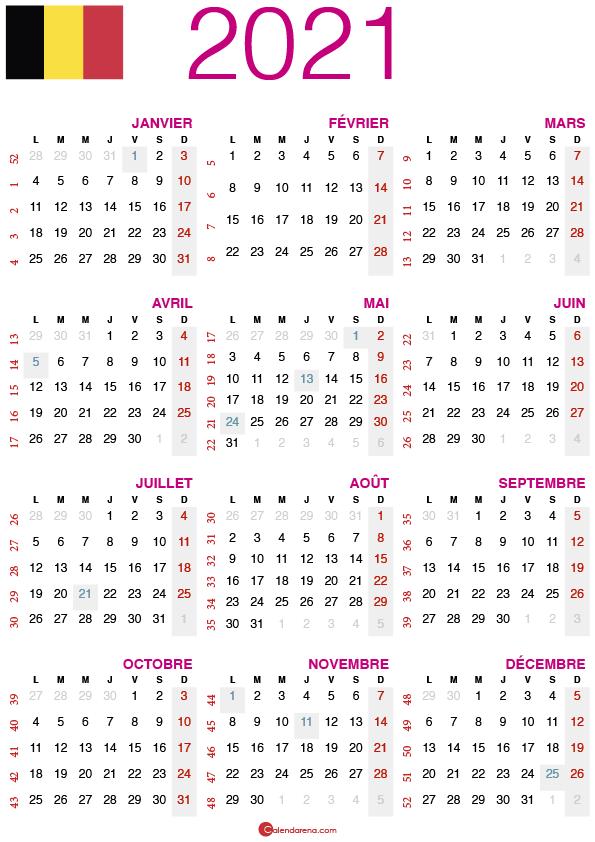 calendrier 2021 belgique_2