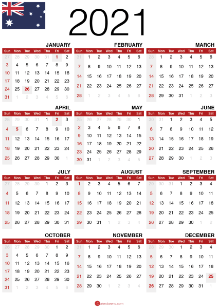 free printable calendar 2020 australia