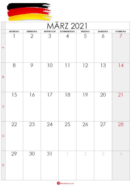 kalender märz 2021 -deutshland5