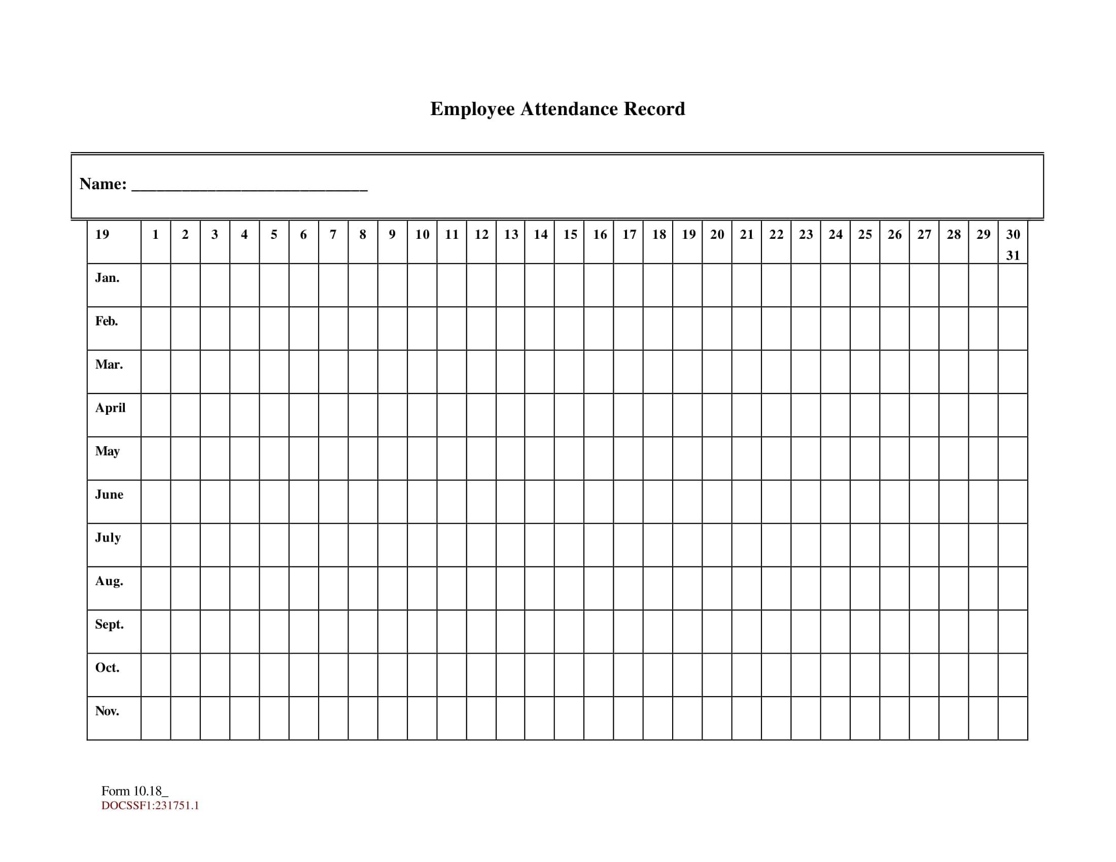 Take Employee Attendance Sheet