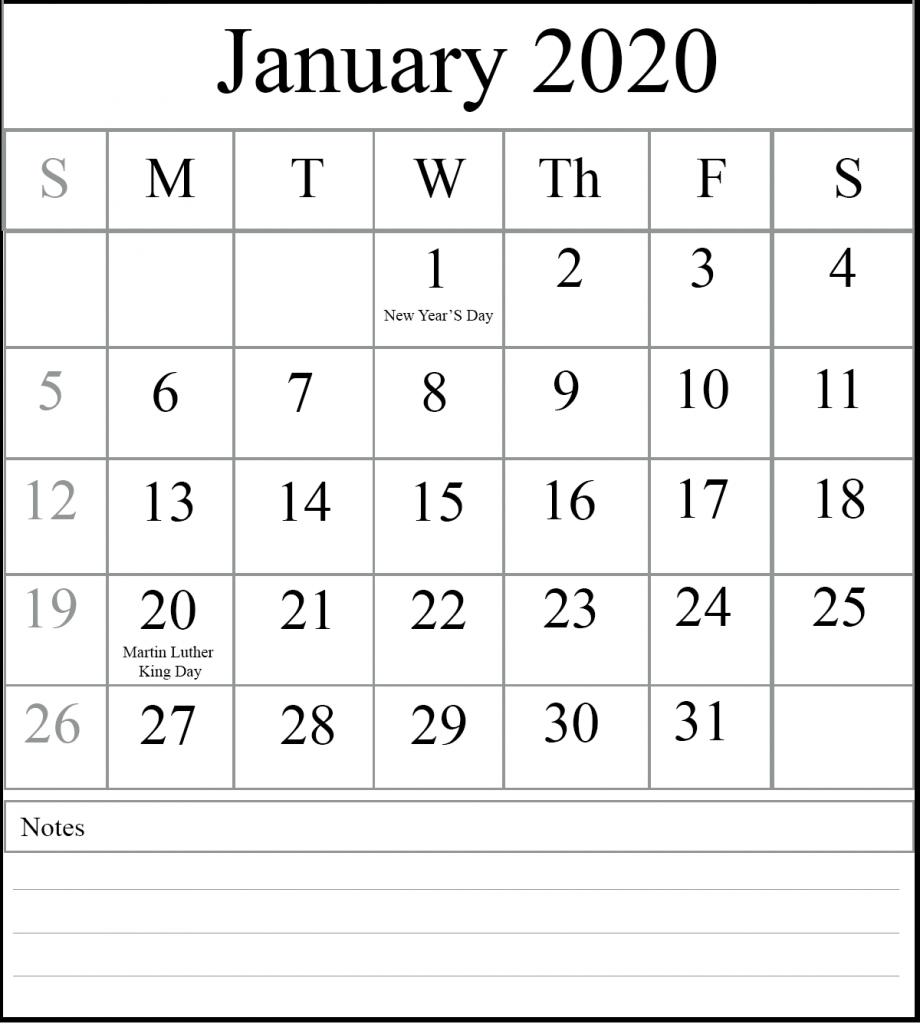 Take Word Downloadable January 2020 Thru December ...